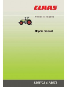 Repair manual for Claas 	Axion 810 - 820 - 830 - 840 - 850 tractor, PDF-Claas
