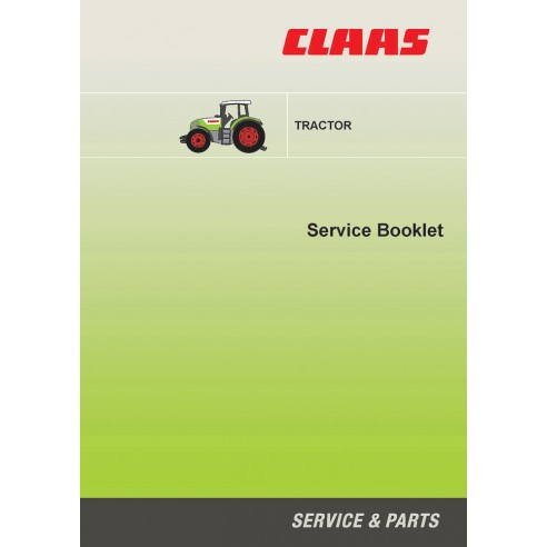 Service booklet for Claas 500 hours interval tractor, PDF-Claas