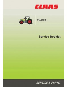 Service booklet for Claas 600 hours interval tractor, PDF-Claas