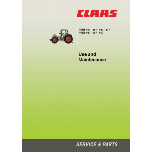 Maintenance manual for Claas Ares 547 - 557 - 567 - 577 - 617 - 657 - 697 tractor, PDF-Claas