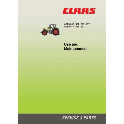 Manuel d'entretien tracteur Claas Ares 547 - 557 - 567 - 577 - 617 - 657 - 697 - Claas manuels