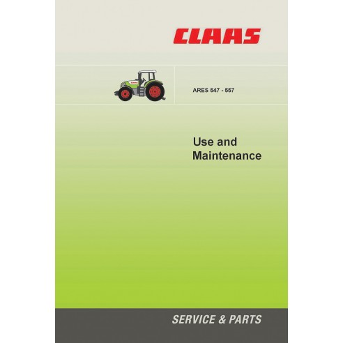Maintenance manual for Claas Ares 547 - 557 tractor, PDF-Claas