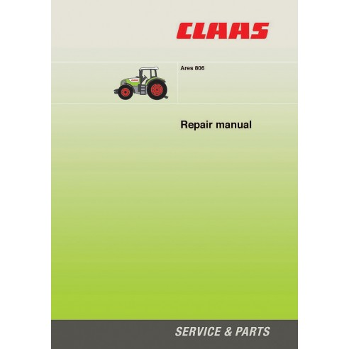 Claas Ares 806 tractor repair manual - Claas manuals