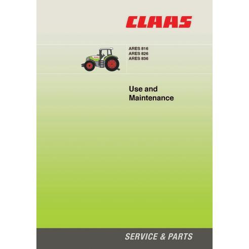 Manuel d'entretien du tracteur Claas Ares 816-826-836 - Claas manuels