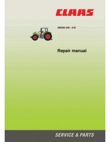 Claas Arion 430 - 410 tractor repair manual - Claas manuals