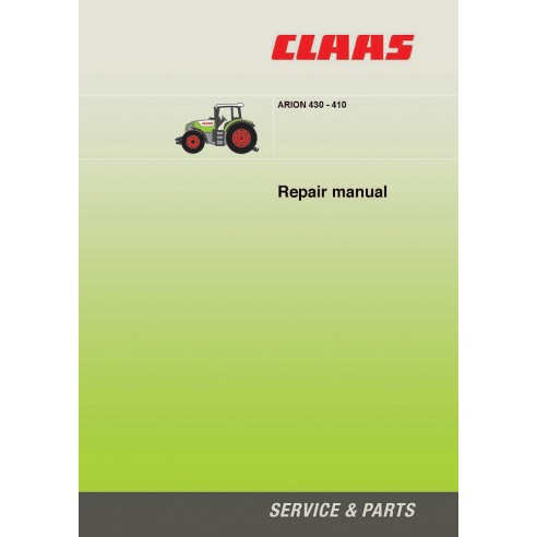 Manuel de réparation tracteur Claas Arion 430-410 - Claas manuels