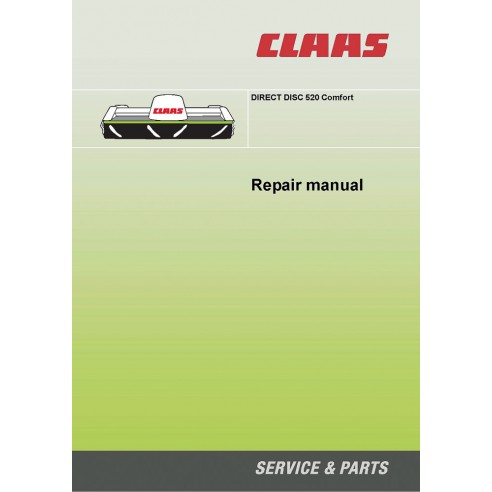 Claas DIRECT DISC 520 Comfort forage harvester repair manual - Claas manuals