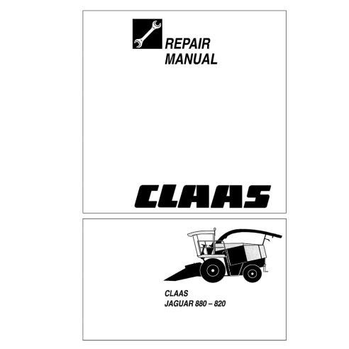 Manuel de réparation de l'ensileuse Claas JAGUAR 880-820 - Claas manuels