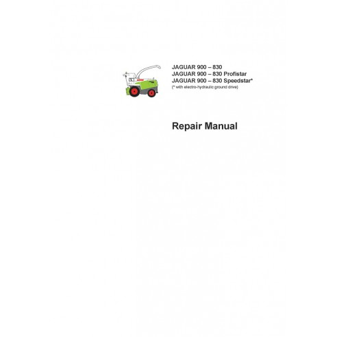 Repair manual for Claas JAGUAR 900 – 830 forage harvester, PDF-Claas