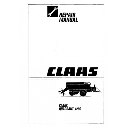 Manual de reparación de la empacadora Claas Quadrant 1200 - Claas manuales