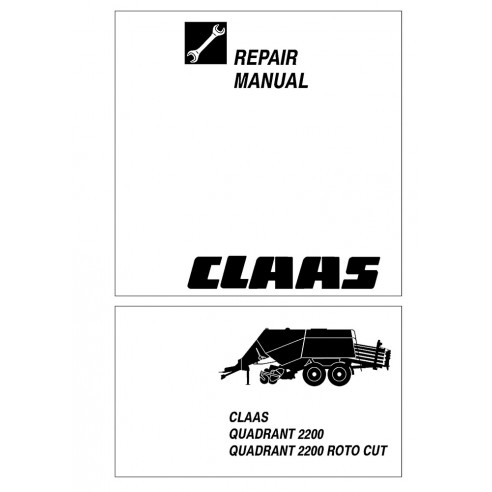 Repair manual for Claas Quadrant 2200 baler, PDF-Claas