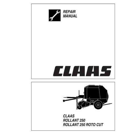 Manuel de réparation presse à balles Claas Rollant 250 - Claas manuels