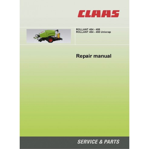 Repair manual for Claas Rollant 454 - 455 baler, PDF-Claas