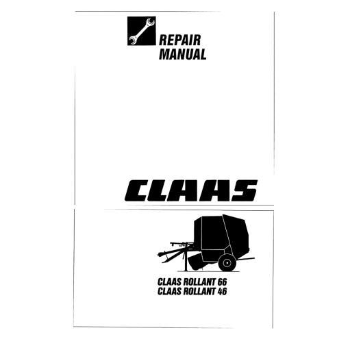 Manuel de réparation presse à balles Claas Rollant 46, 66 - Claas manuels