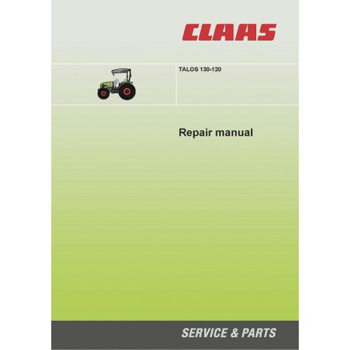 Claas Talos 130 - 120 tractor repair manual - Claas manuals