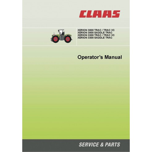 Claas Xerion 3300, 3800 tractor operator's manual - Claas manuals