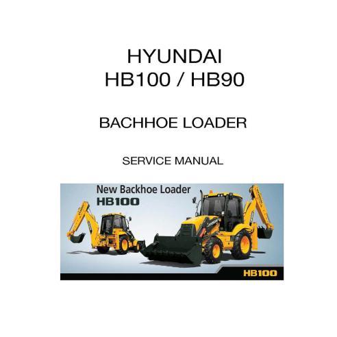 Service manual for Hyundai HB100, HB90 backhoe loader, PDF-Hyundai
