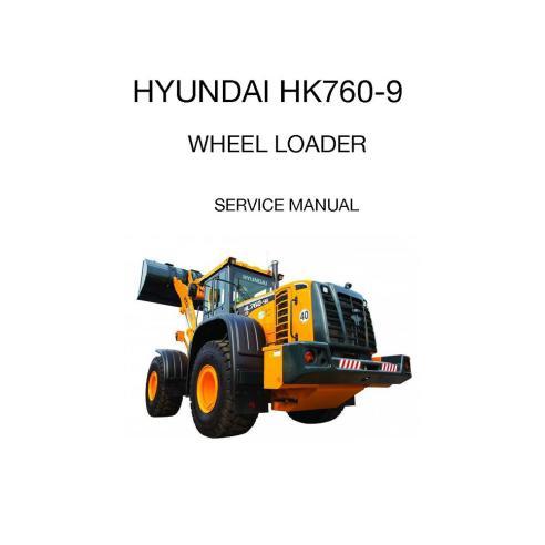 Manual de serviço da carregadeira de rodas Hyundai HL760-9 - Hyundai manuais