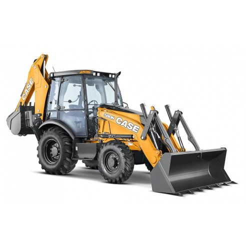 Operator's manual for Case 580N, 580SN-WT, 580SN, 590SN backhoe loader, PDF-Case