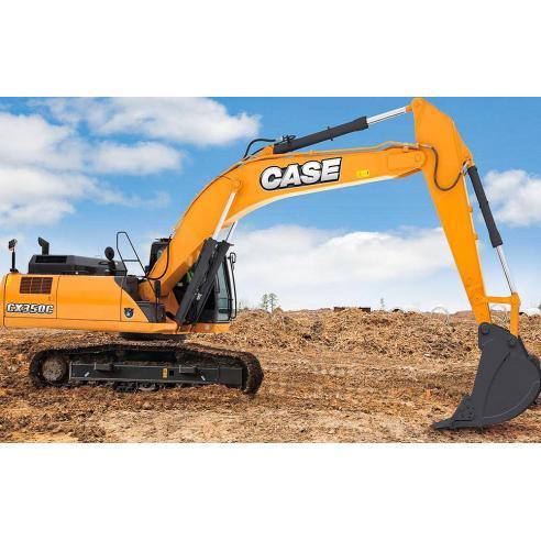 Manual do operador da escavadeira Case CX350C Tier 4 - Case manuais