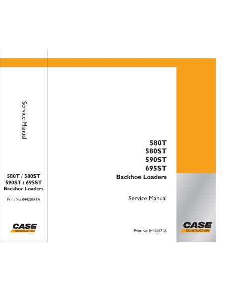 Service manual for Case 580T, 590ST, 590ST, 695ST backhoe loader, PDF-Case