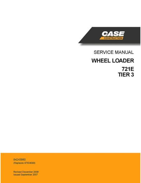 Service manual for Case 721E TIER 3 wheel loader, PDF-Case