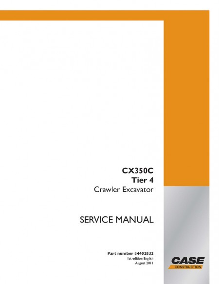 Service manual for Case CX350C Tier 4 excavator, PDF-Case