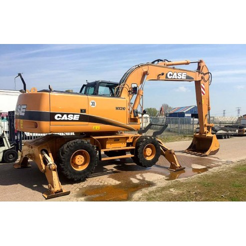 Service manual for Case WX210, WX240 excavator, PDF-Case