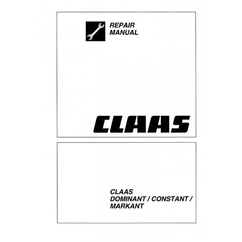 Claas Markant baler repair manual-Claas