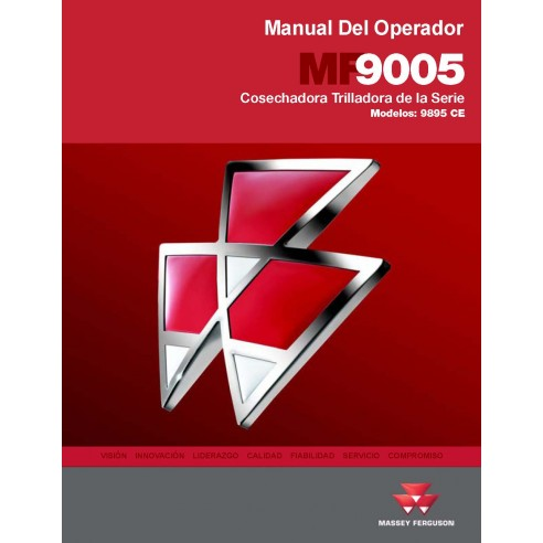 Operator's manual for Massey Ferguson 9895 CE combine harvester, PDF-Massey Ferguson service repair workshop manuals
