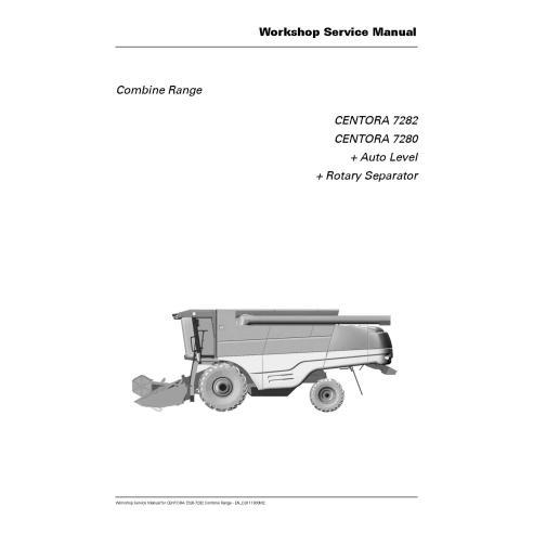 Manual de reparación de cosechadoras combinadas Massey Ferguson MF 7282, 7280 CENTORA - Massey Ferguson manuales
