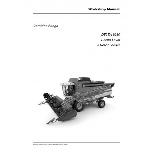 Manuel d'atelier pour moissonneuse-batteuse Massey Ferguson DELTA 9280 - Massey Ferguson manuels