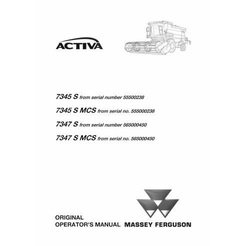 Massey Ferguson MF 7345 S, 7347 S combine harvester operator's manual - Massey Ferguson manuals