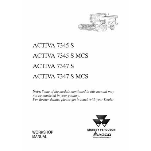 Manual de taller de la cosechadora Massey Ferguson MF 7345 S, 7347 S - Massey Ferguson manuales