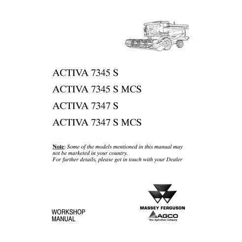 Workshop manual for Massey Ferguson MF 7345 S, 7347 S combine harvester, PDF-Massey Ferguson service repair workshop manuals