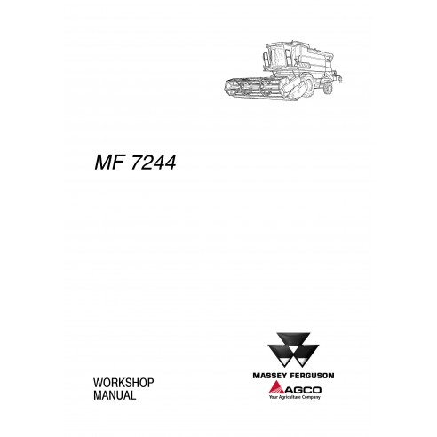 Manuel d'atelier pour moissonneuse-batteuse Massey Ferguson MF 7244 - Massey Ferguson manuels
