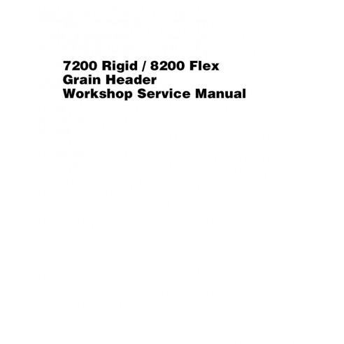 Service manual for Massey Ferguson MF 7200 Rigid, 8200 Flex header, PDF-Massey Ferguson service repair workshop manuals