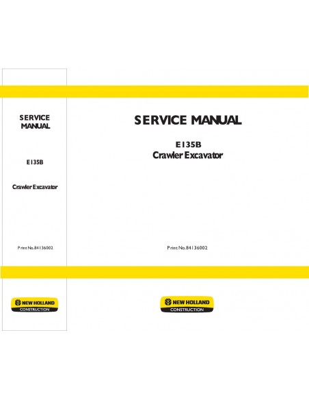 Service manual for New Holland E135B excavator, PDF-New Holland