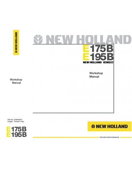 Workshop manual for New Holland E175B, E195B excavator, PDF-New Holland
