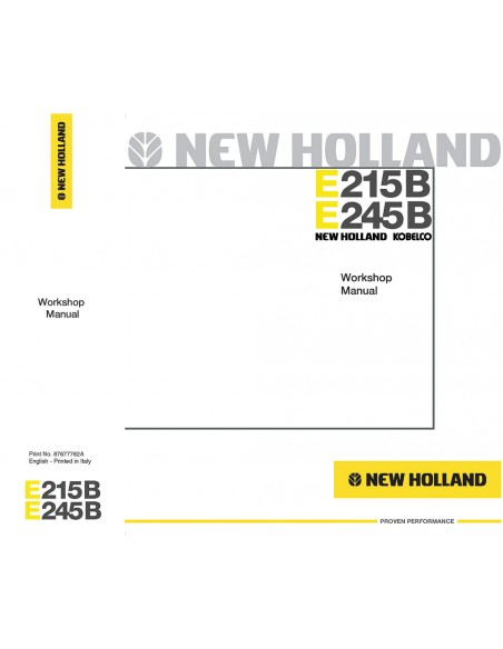 Workshop manual for New Holland E215B, E245B excavator, PDF-New Holland