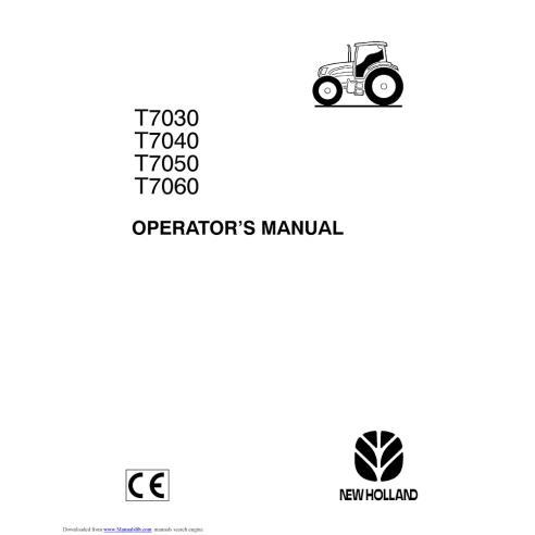 Manual del operador del tractor New Holland T7030, T7040, T7050, T7060 - Agricultura de New Holland manuales