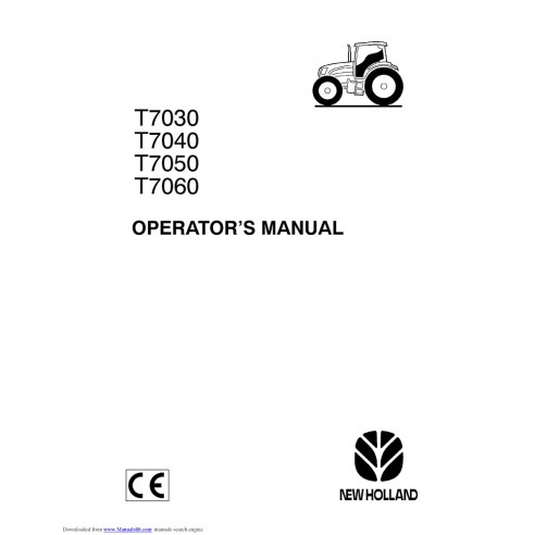 Operator's manual for New Holland T7030, T7040, T7050, T7060 tractor, PDF-New Holland