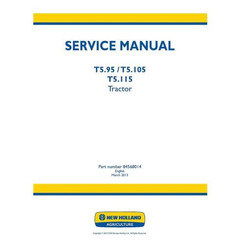 Manual de servicio del tractor New Holland T5.95, T5.105, T5.115 - Agricultura de New Holland manuales