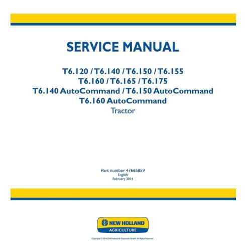 Manuel d'entretien du tracteur New Holland T6.120, T6.140, T6150, T6.155, T6.160, T6.165, T6.175 - Agriculture de New Holland...