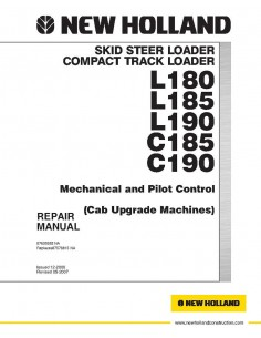 Repair manual for New Holland L180, L185, L190, C185, C190 skid loader, PDF-New Holland