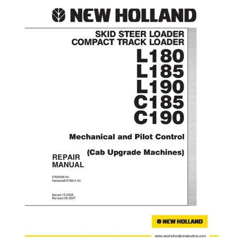 Manual de reparo de carregadeira de skid New Holland L180, L185, L190, C185, C190 - New Holland Construction manuais