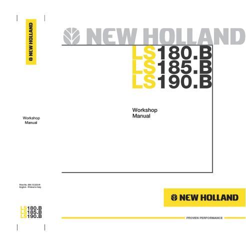 Workshop manual for New Holland LS180.B, LS185.B, LS190.B skid loader, PDF-New Holland