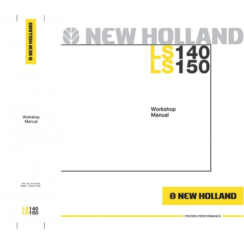 Manual de taller del cargador deslizante New Holland LS140, LS150 - Construcción New Holland manuales