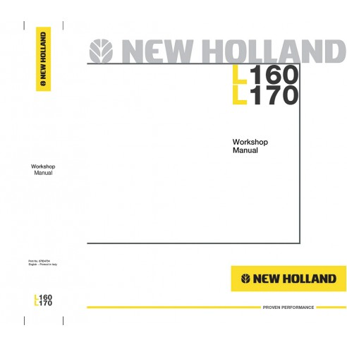 Workshop manual for New Holland L160, L170 skid loader, PDF-New Holland