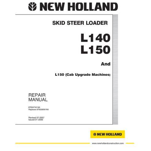 Workshop manual for New Holland L140, L150 skid loader, PDF-New Holland